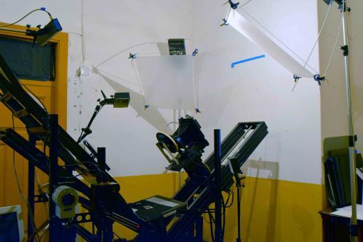 General view of spectral imaging system, installed on Preservation Book Cradle