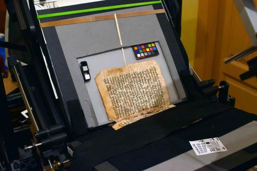 Syrus Sinaiticus (Syriac 30), installed on Preservation Book Cradle.